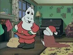 Santa with Max