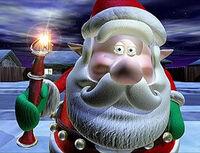Santa-vssnowman