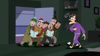 Doofenshmirtz with carolers