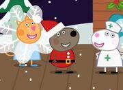 Danny Dog as Father Christmas