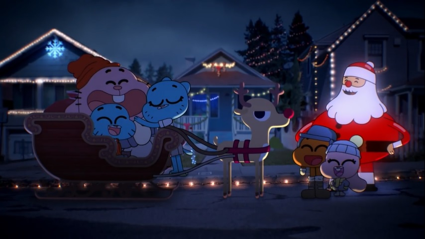 it s christmas eve and all the citizens of elmore are in a festive mood many characters wish the viewers a merry christmas including the wattersons