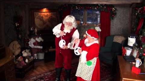 Santa Snooper Webcam Video 013- Santa Claus & Mrs. Claus' Big Race