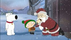 Family Guy Stewie and Brian Meet Santa