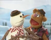 Fozzie with the snowman