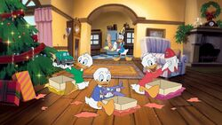 Donald and his Nephews in Stuck on Christmas