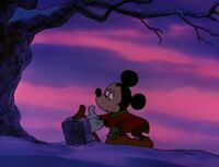 Mickey visiting Morty's grave