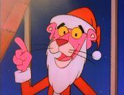Pink Panther as Santa