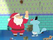 Santa with Oggy