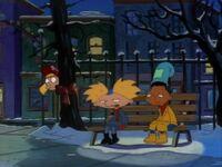 Helga overhears Arnold