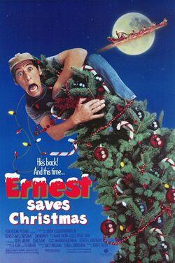 Ernest saves christmas poster