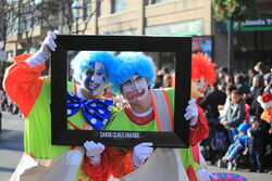 Toronto Christmas Parade Celebrity Clowns