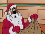 Scooby as Santa