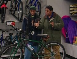 Kenan and Kel at the bike store
