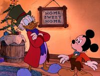 Scrooge promotes Mickey