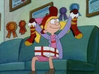 Helga gets the snow boots