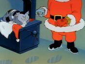Dr Claw as Santa