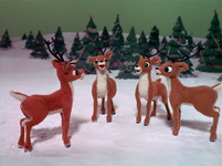 Reindeers laughing at rudolph is return