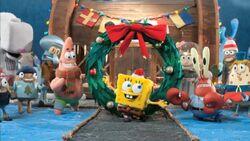 Its a SpongeBob Christmas Cast Shot