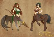 Hollia & Kroanette - The Centaur Sisters