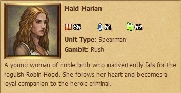 Maid Marian Status Window