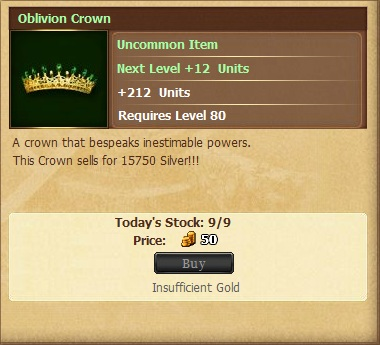 Oblivion Crownf