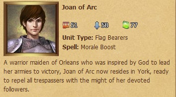 Joan of Arc Status Window