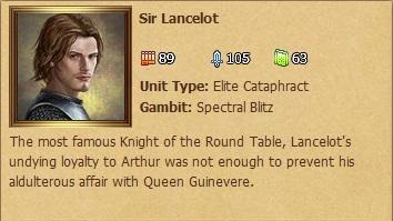 Sir Lancelot Status Window