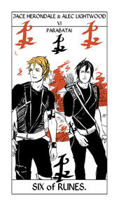 Jace + Alec six of cups