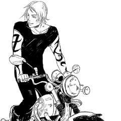 Jace auf Vampirmotorrad