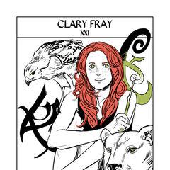 Verschiedene Farben, Runen hinzugefügt und Clary's Lächeln