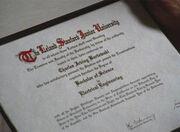 Chuck diploma