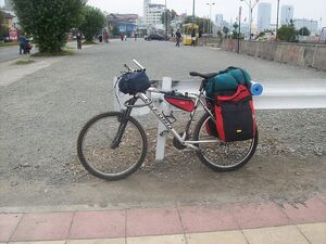 Mountain Bike equipada para cicloturismo