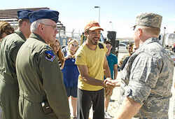 Robert Downey Jr. at Edwards Air Force Base