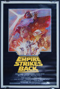 SW-0058 Star Wars The Empire Strikes Back one sheet movie poster l