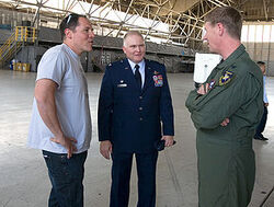 Jon Favreau at Edwards Air Force Base