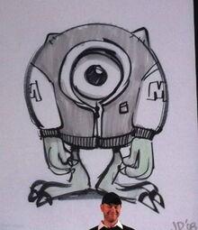 Boceto de Mike MU