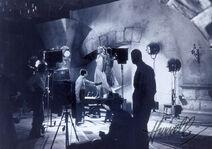 Hurrell on movie set wm