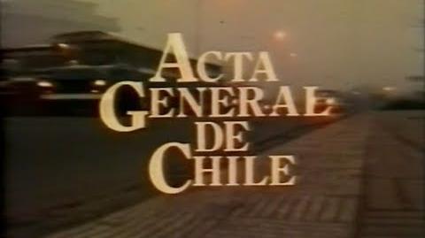 Acta General de Chile Parte I - Miguel Littin Clandestino en Chile