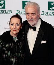 Christopher Lee and Birgit Kroencke, Women's World Awards 2009