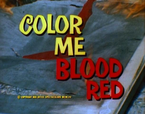 Color Me Blood Red title