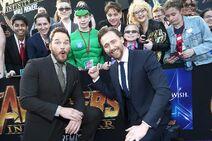 Premiere Infinity War - Hiddleston, Pratt