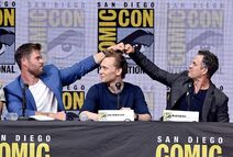 Comic Con Thor Ragnarok - Hemsworth, Hiddleston, Ruffalo