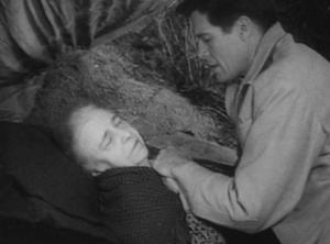 Jane Darwell dead with Robert Horton in Wagon Train-