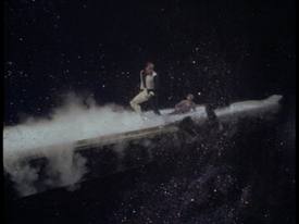 Guy Williams falling to his death in 'Lost in Space'
