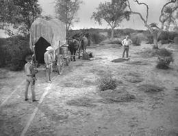 Susan Oliver's covered body in 'Wagon Train- The Cathy Eckart Story'