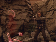John Robert Garrett disintegrated in Star Trek-The Next Generation-Loud as a Whisper