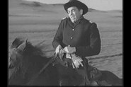 Mike Conners shot in the back in Wagon Train-The Dora Gray Story