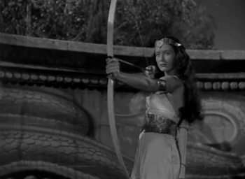 Unknown Actress 45-B just before her death in 'Tarzan and the Amazons'