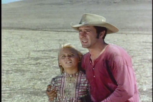 Diane Mountford with Robert Fuller in Wagon Train-The Eli Bancroft Story