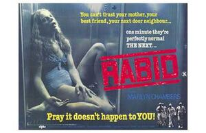 Rabid theatrical poster